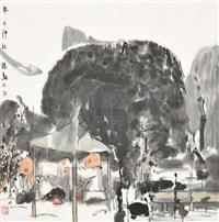 高士敬酒图 by liu jin'an