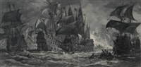 the sea battle by james waltham curtis