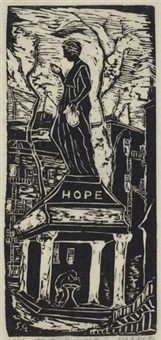 hope-faith (+ 3 others; 4 works, various sizes) by sid gotcliffe