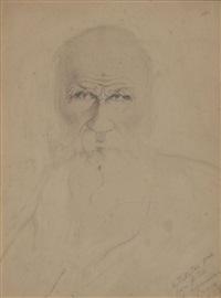 portrait du poète léon tolstoï by léon lvovitch tolstoi