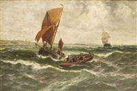 looking out for a tow, coast of essex by thomas rose miles