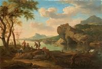 südliche hafenszene by jacob de heusch
