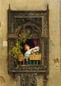girl by the window by arnoldo corrodi