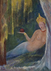 nude with an apple by yulia grigorevna arapova