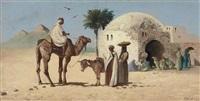 traders by the pyramids at geza by john coulson