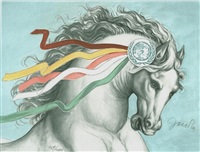 herald of peace (from flag series) by elisabeth von janota-bzowski
