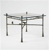 table-feuilles: modèle bas aux grenouilles by diego giacometti