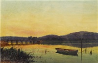 untitled (boat on a river) by william lister-lister