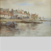 scottish shoreline, fife by william st. thomas smith