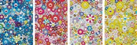 an homage to ikb c; an homage to monopink 1960 c; an homage to yves klein, multicolor d; and an homage to monogold 1960 d, 2012 (4 works) by takashi murakami