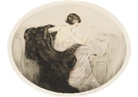 rest by louis icart
