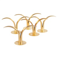 lilje candle holders (group of 14 works) by ystad metall