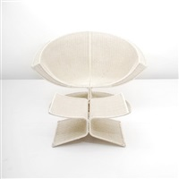 lotus chair and ottoman by miller fong