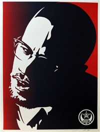 malcom x set (3 works) by shepard fairey