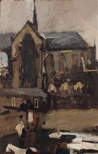 dam square, amsterdam by george hendrik breitner