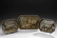 trois espèces de vaches et taureaux (3 works) by christophe fratin