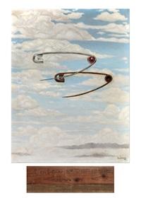 deux épingles dans un ciel nuageux by victor hubinon