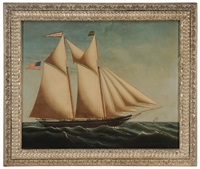 the schooner alexander blue, capt. george b. murray, registered in in sippican, maine by edward everard arnold