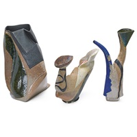 hand-built vessels (3 works) by john gill