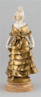 jeune femme à la robe longue by alphonse henry nelson