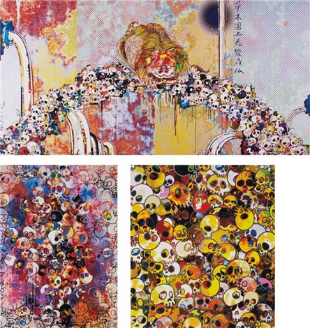 of chinese lions peonies skulls and fountains mgst ive left my love far behind their smell every momento 3 works by takashi murakami