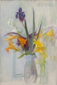iris and lilies by ellen day hale
