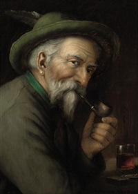 a tyrolean in a tavern by wagner martini
