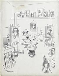 the self portrait complex by henry mayo bateman