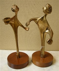dancing figures (pair) by michael fleischer