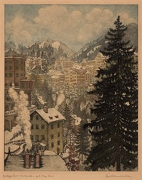 bad gastein im winter by karl reisenbichler