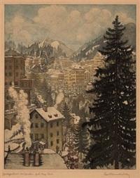 bad gastein im winter by karl reisenbichler