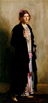 portrait of monica, daughter of w. madden, esq. by frank thomas copnall