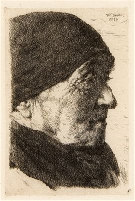 bildnis einer alten bäuerin profil nach rechts by wilhelm maria hubertus leibl