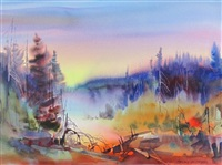 twilight landscape by brian atyeo