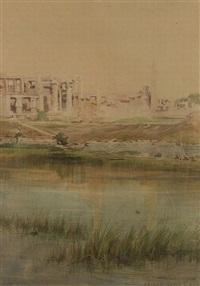 karnak sacred lake by charles whymper