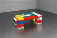tavolo basso mod. lego memphis by jonathan monk