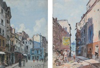 deux vues du vieux paris (pair) by enrique atalaya
