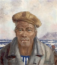 portrait of a fisherman by adelio zeelie (zagnie)