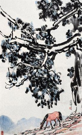 树下神骏 by xu beihong