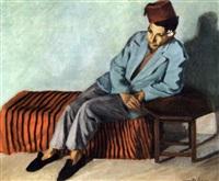 jeune tunisien accoudé au guéridon by camille leroy