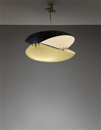rare ceiling light by ettore sottsass