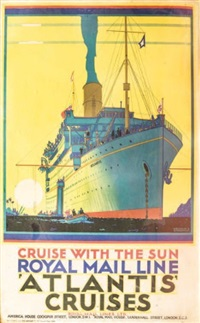 royal mail line, atlantis cruises by kenneth shoesmith