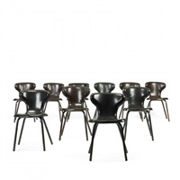 dining chairs from the henry p. glass house, northfield (set of 10) by egmont arens