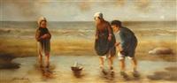 enfants au bord de la mer by alain lenoir