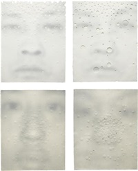 four works: i) focus ix b; ii) focus vi a; iii) focus ix a; iv) focus xii a (4 works) by lin tianmiao