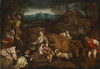 der herbst (weinlese) by francesco bassano the younger