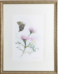 pair of works: thistle i and thistle 2 by gaye sanders fisher