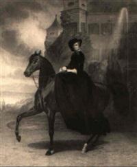 kaiserin elisabeth von österreich zu pferde, possenhofen 1853 by andreas johann fleischmann