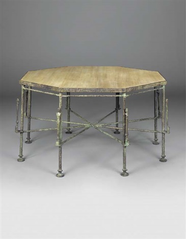 grande table octagonale aux caryatides by diego giacometti - Grande Table