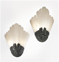 pair of wall sconces by albert cheuret